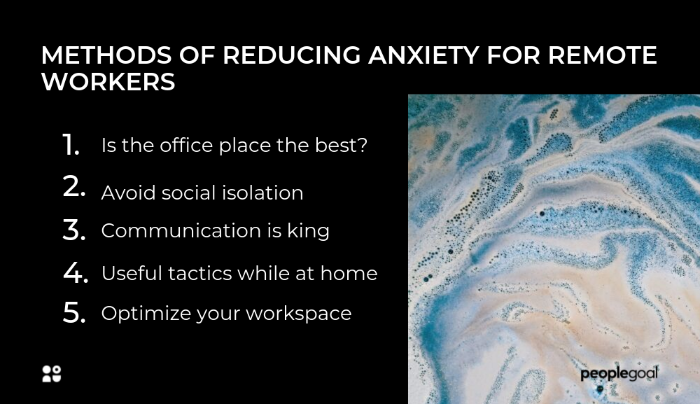 anxiety in the remote workplace