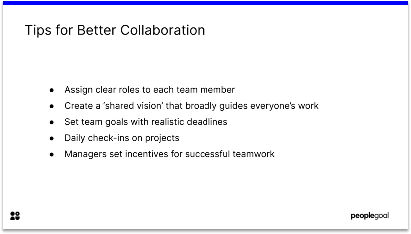 Collaboration tips for team engagement