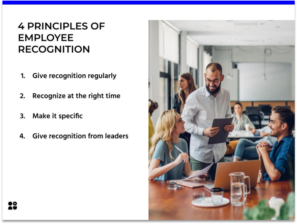 4 Principles of Employee Recognition