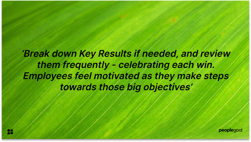 Objectives and Key results employee engagement