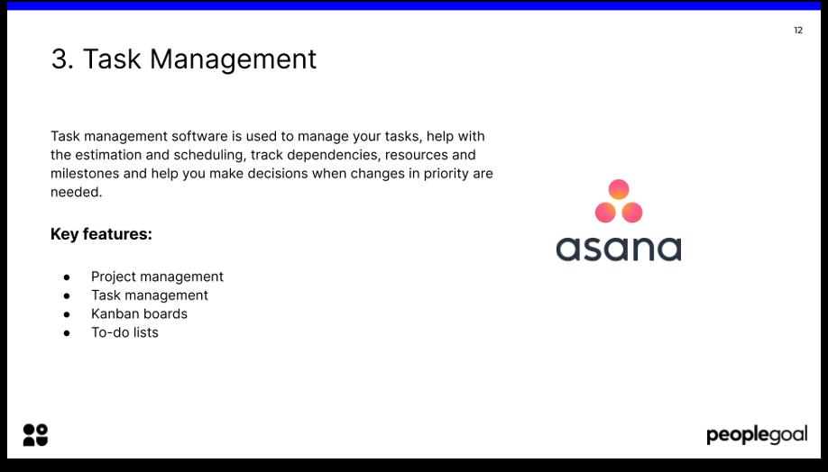 HR tech stack task management