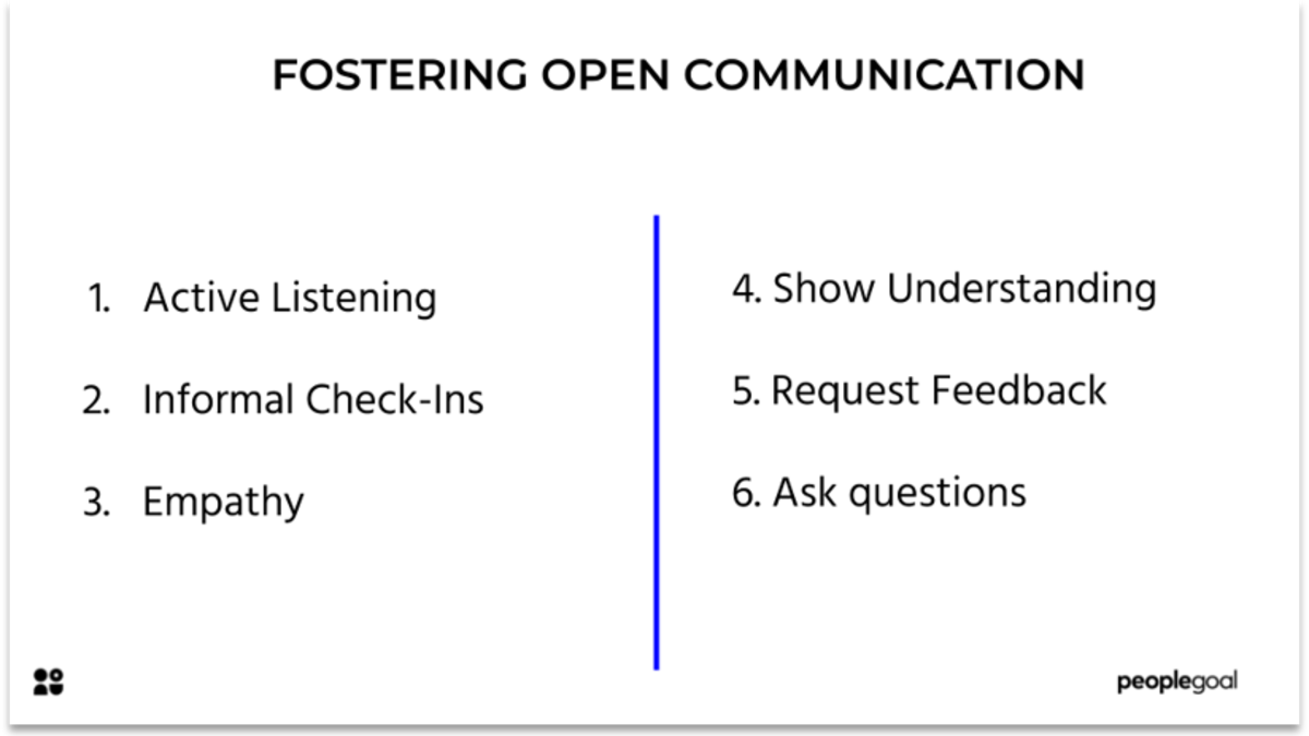 How to foster open communication with employees