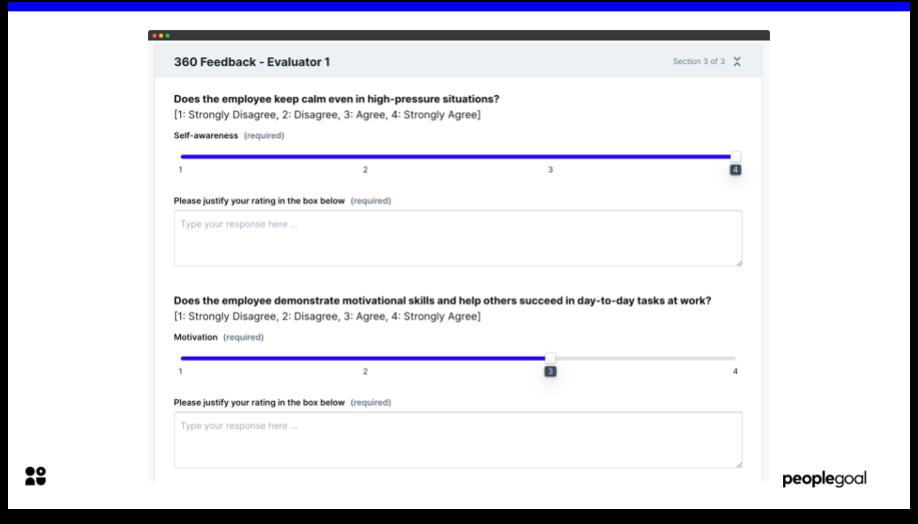 360 feedback evaluator questionnaire