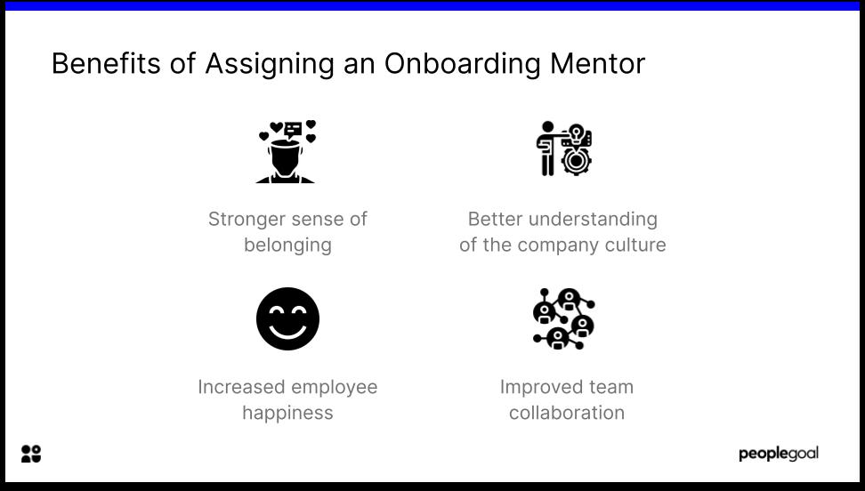 Benefits of assiging an onboarding mentor
