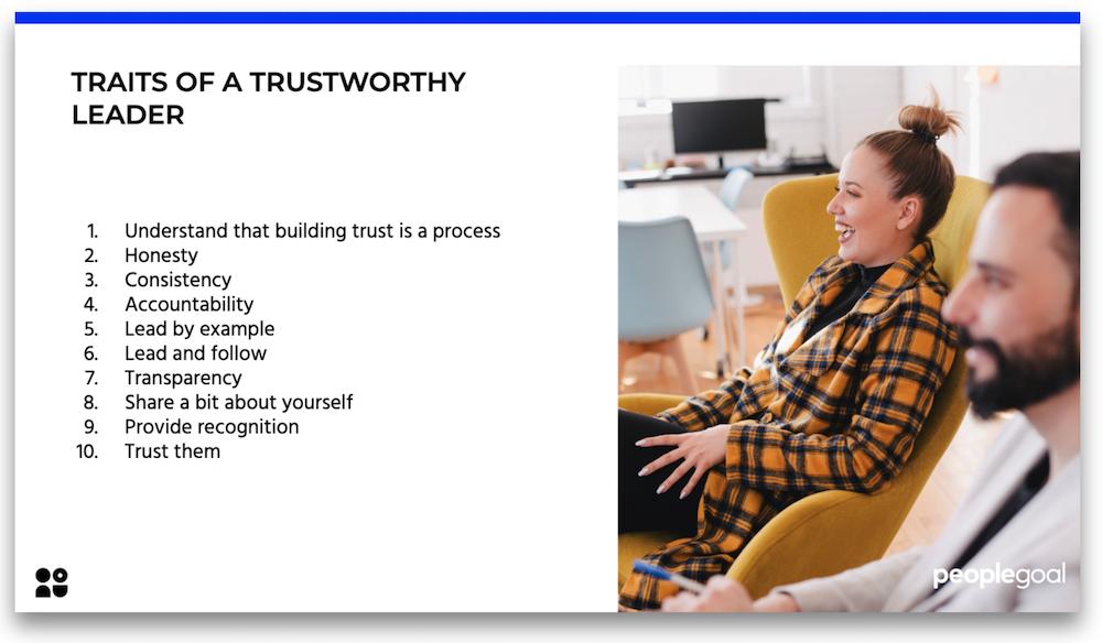 Traits of a trustworthy team leader