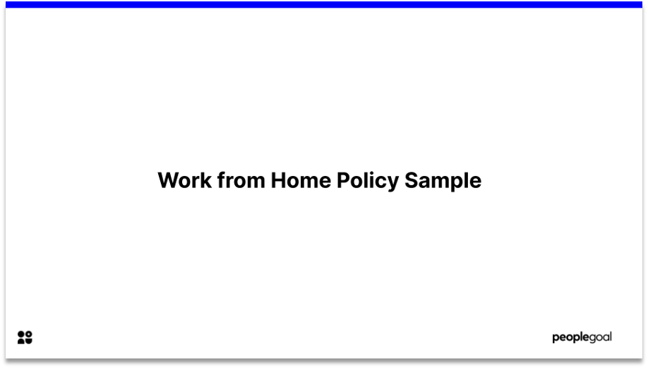 work from home policy sample