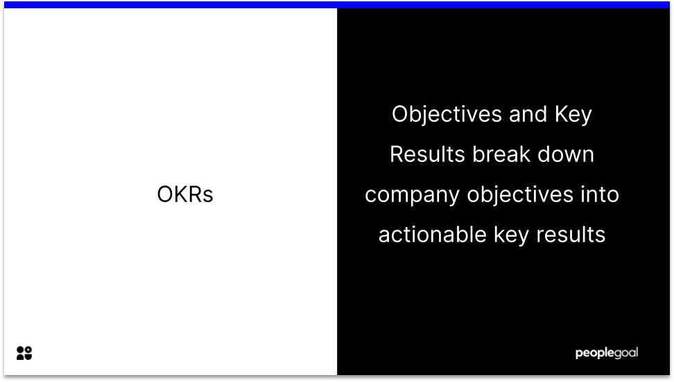 Objectives and Key Results definition OKR updates