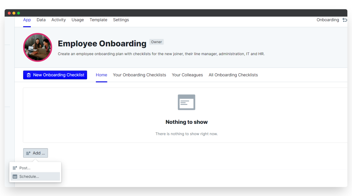 employee onboarding process - new schedule