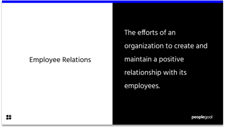 employee relations definition
