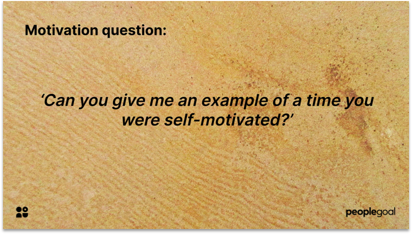 Behavioral interview question example