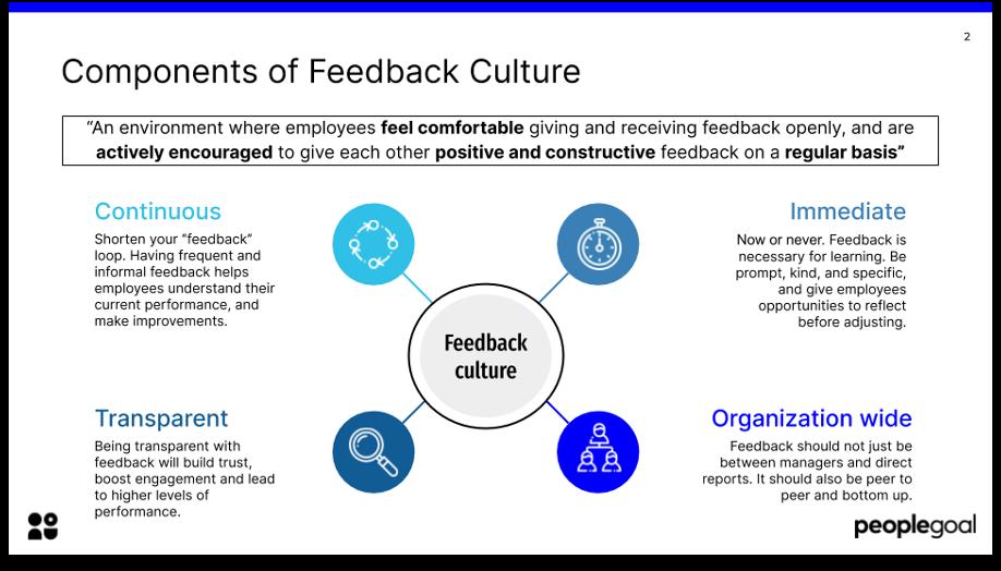 components of feedback culture