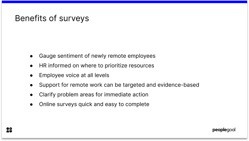 Benefits of Surveys for Remote workers