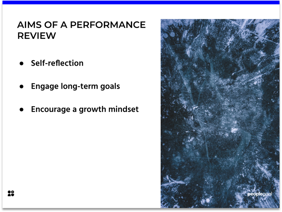 Aims of a Performance Review
