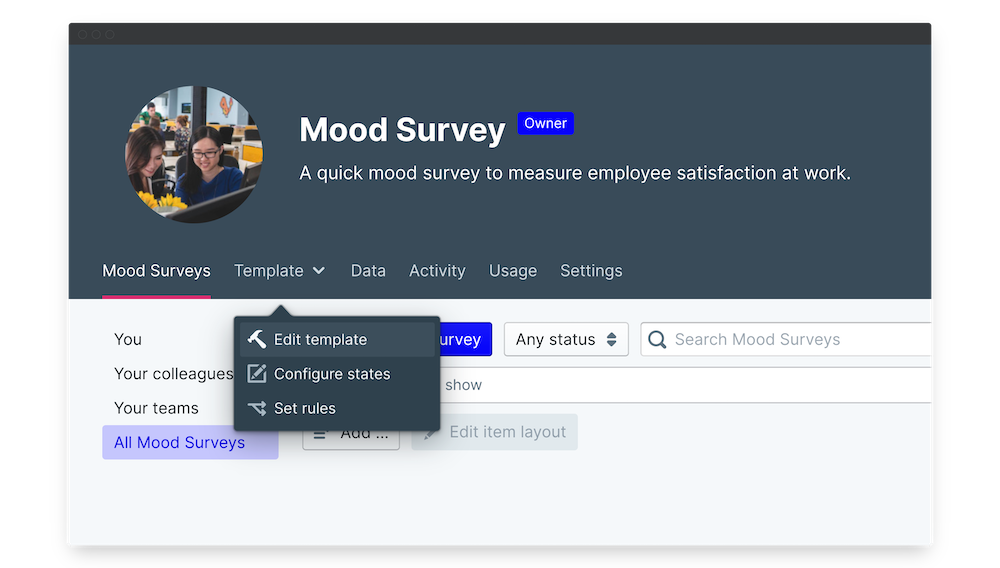 mood surveys edit template