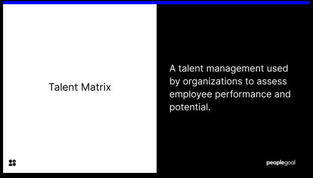 Talent Matrix - definition