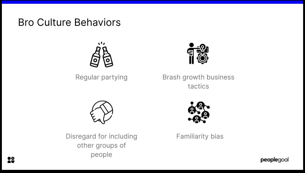 Bro culture behaviors