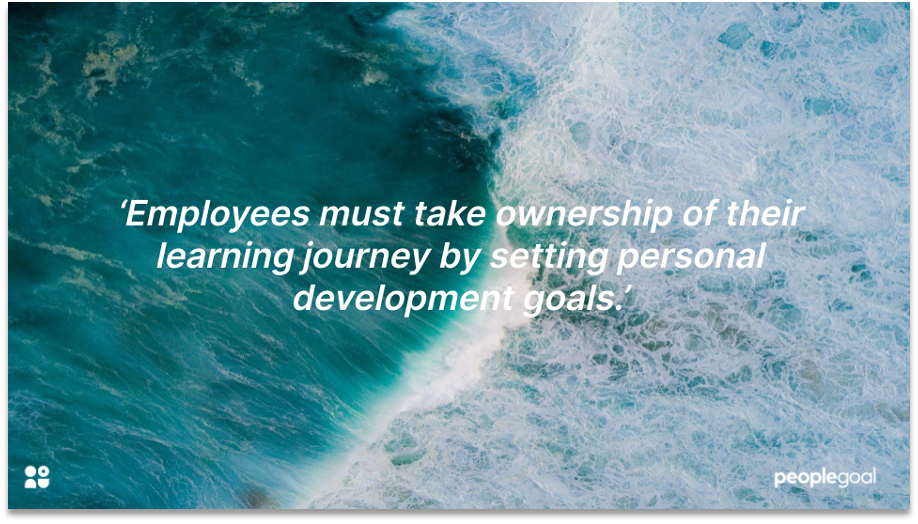 personal development goals quote