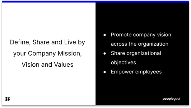 Connected Employees - define, share and live by your company mission, vision and values