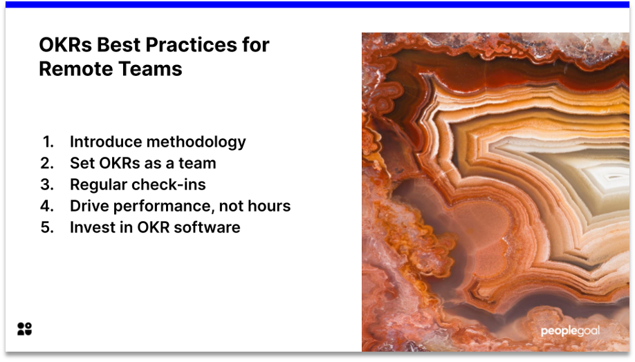 objectives and key results best practices for remote teams