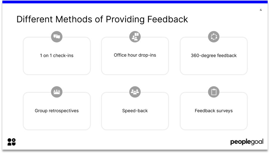 feedback culture different methods of providing feedback