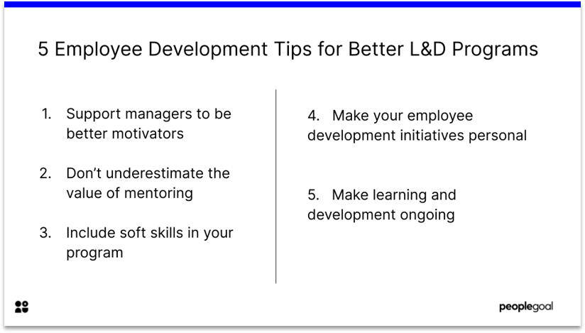 Employee Development Tips for Learning and Development