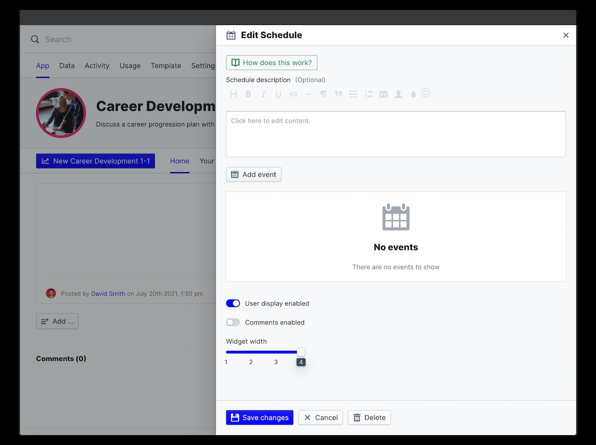 career development schedule