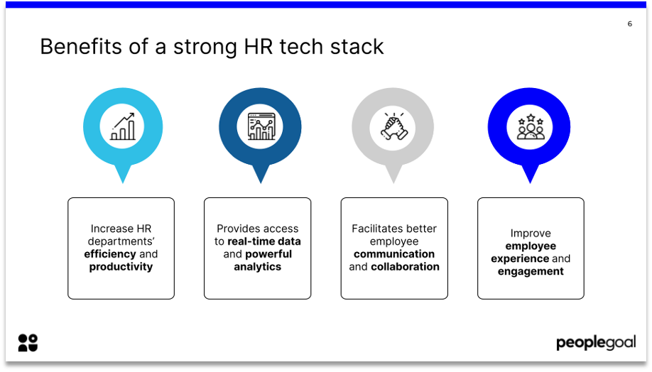 benefits of a strong hr tech stack