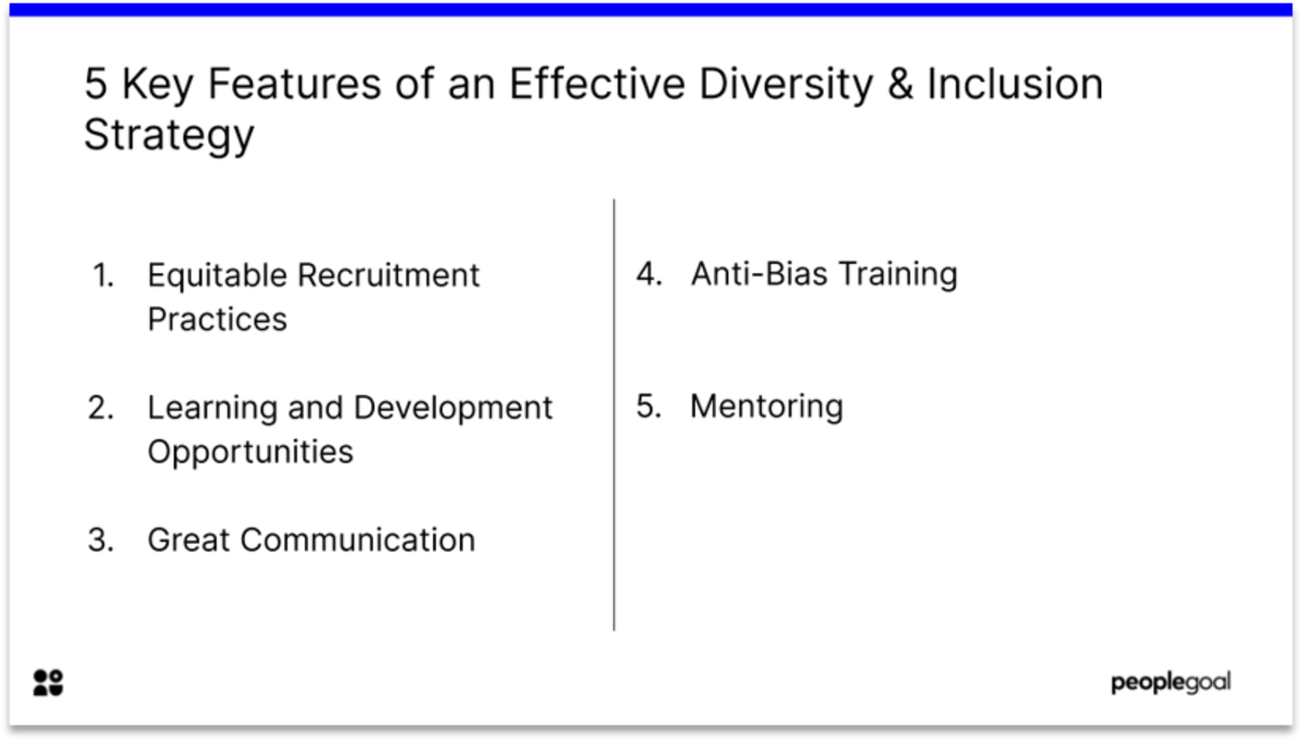 5 Key Features for Diversity and Inclusion Strategy