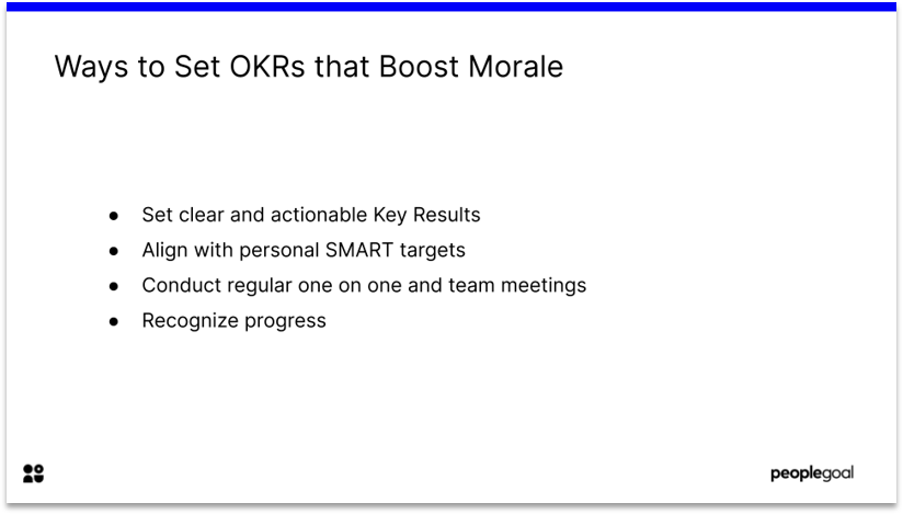 OKRs that Boost Morale OKR Update
