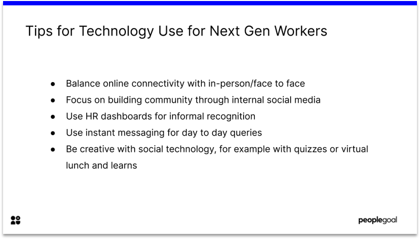 Tips for Technology for Next Gen workers