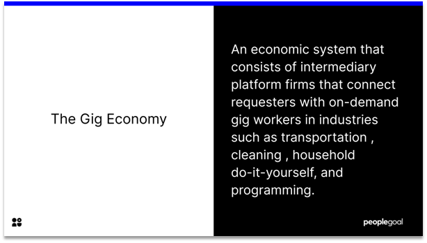 Gig Workers - the gig economy definition