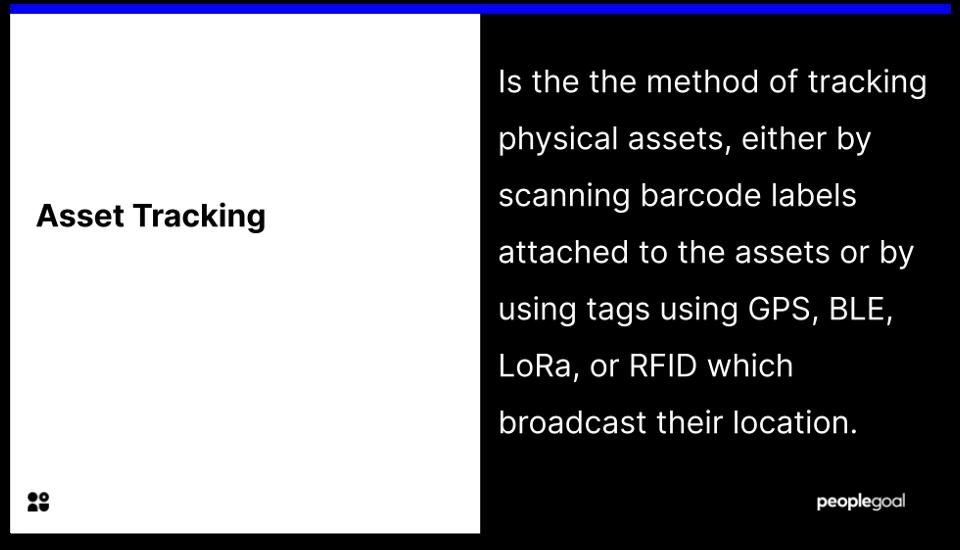 asset tracking - - definiton