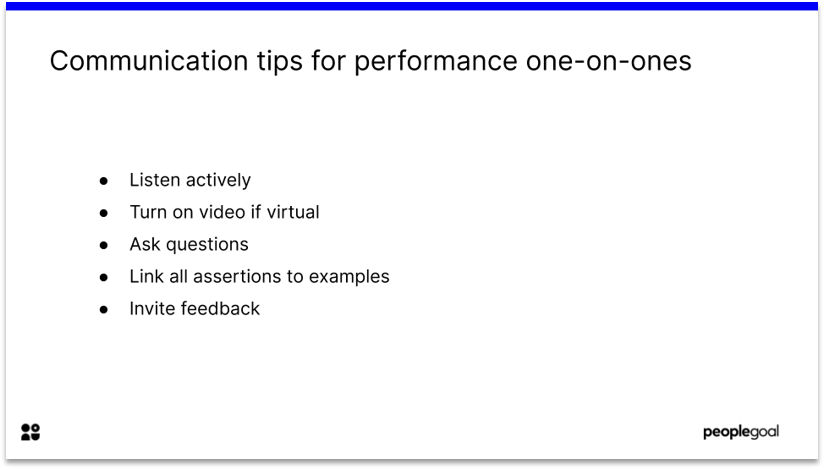 Communication Tips for Performance Review one on ones