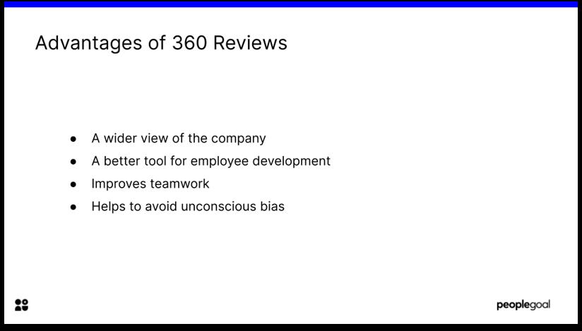 360 Performance Reviews Advantages
