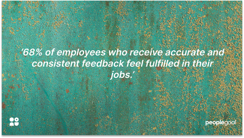 Quotation on Consistent Feedback to Improve Performance Review Completion rates