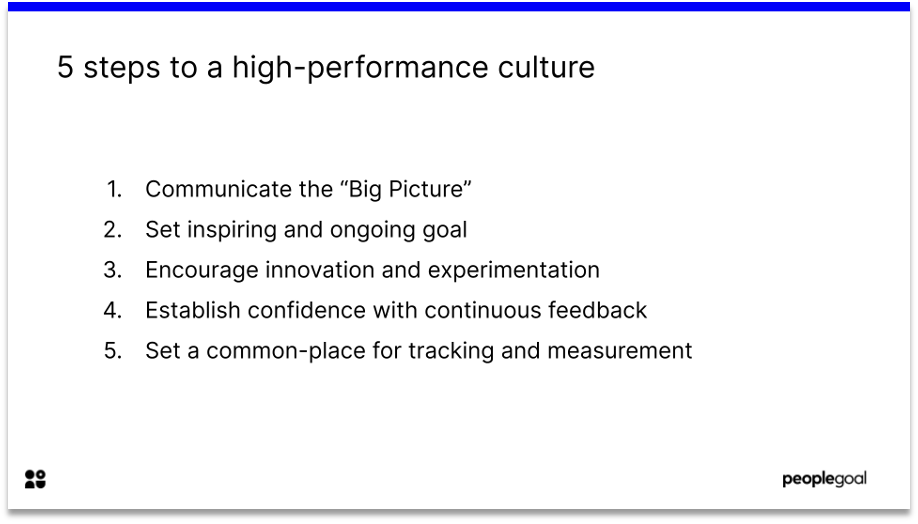 5 steps to a high performance culture
