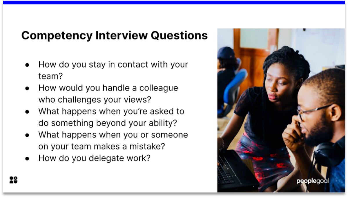 competency manager interview questions