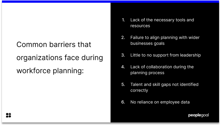common barriers to strategic workforce planning