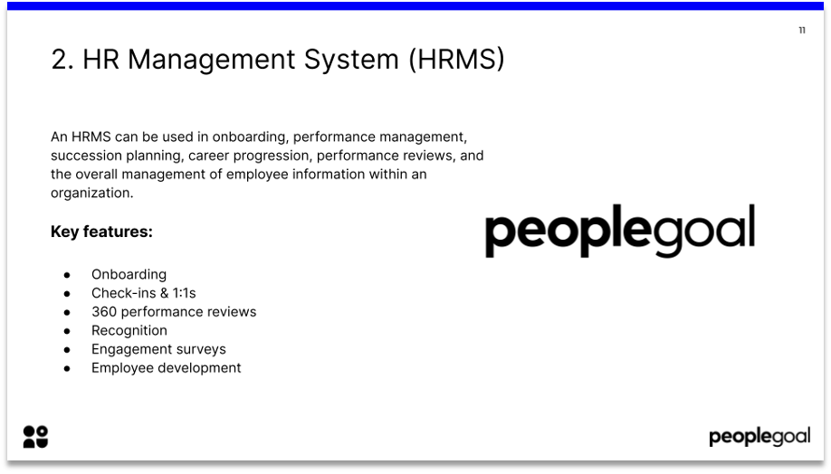 HR tech stack HRMS