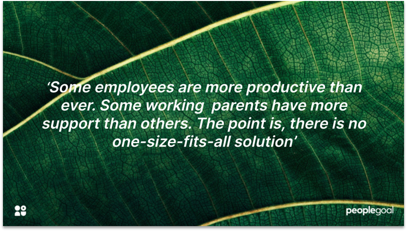 No One Size Fits All Working Parents