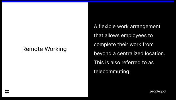 Remote Employee Engagement - remote working definition