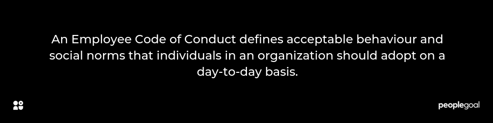 An Employee Code of Conduct definition