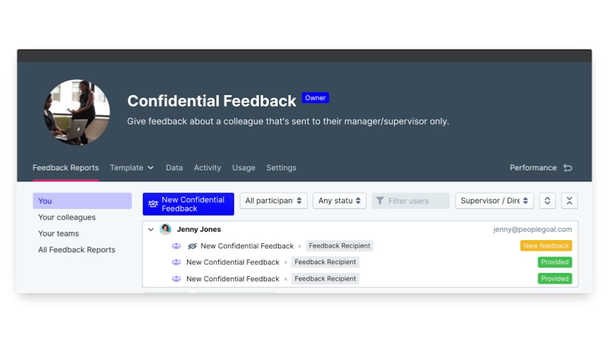 360 degree feedback software anonymous feedback