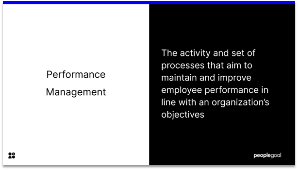 Performance Manager - definition