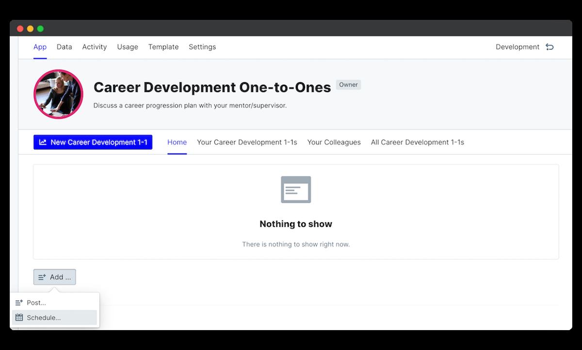 career development schedule edit