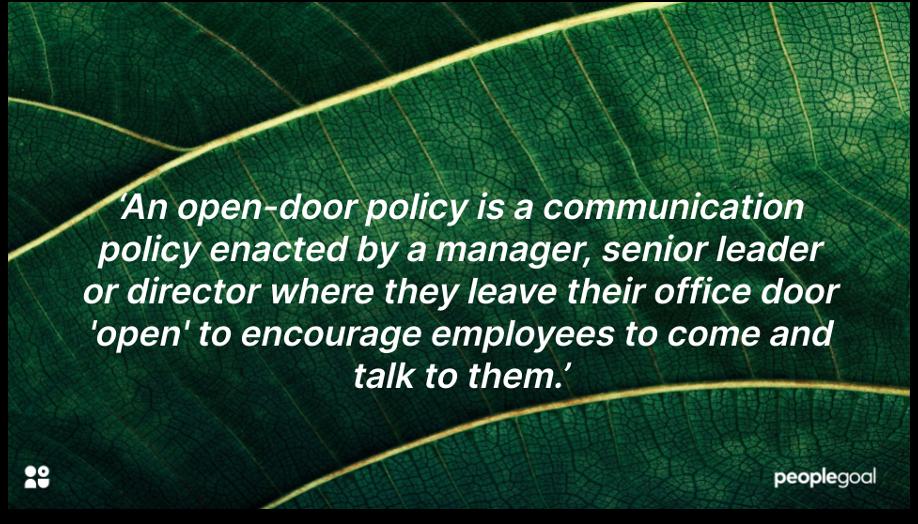open door policy communication