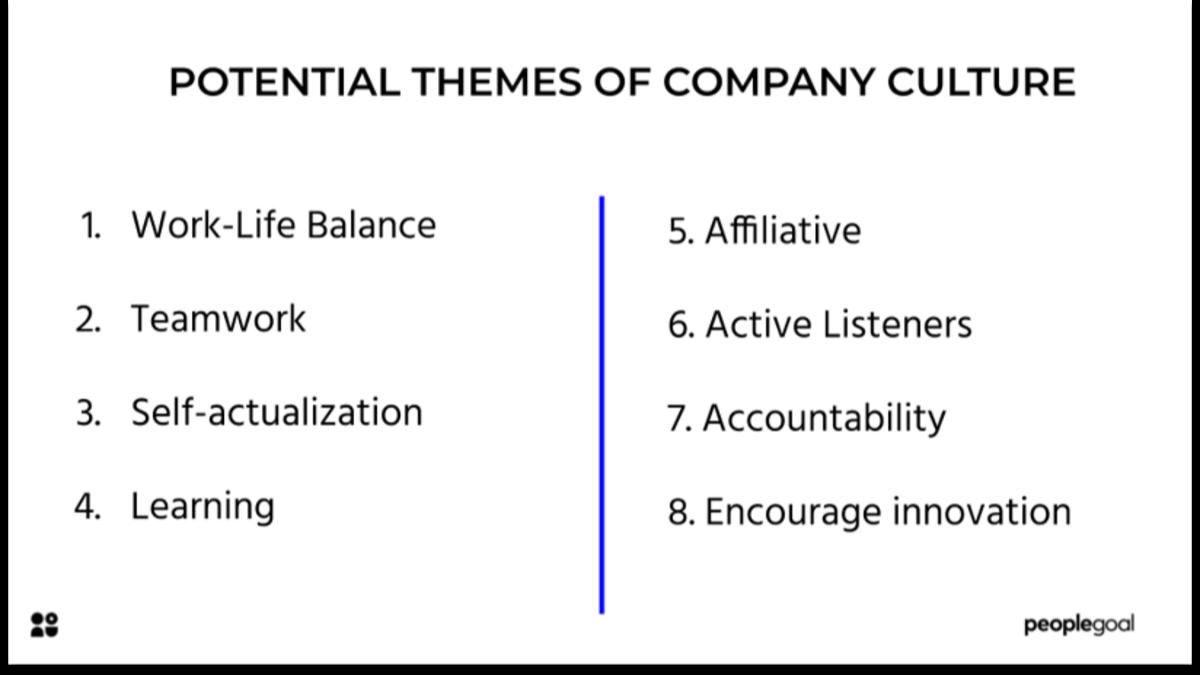 Company culture themes
