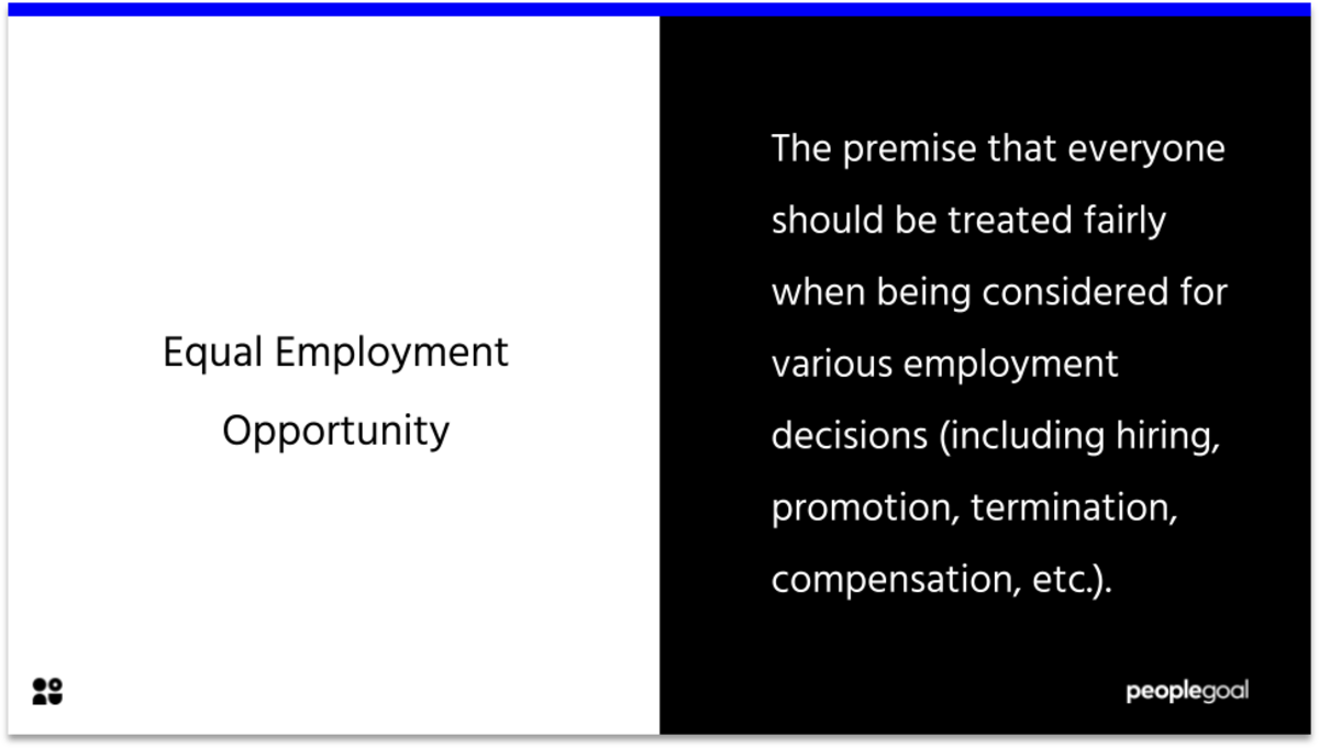 equal employment opportunity definition