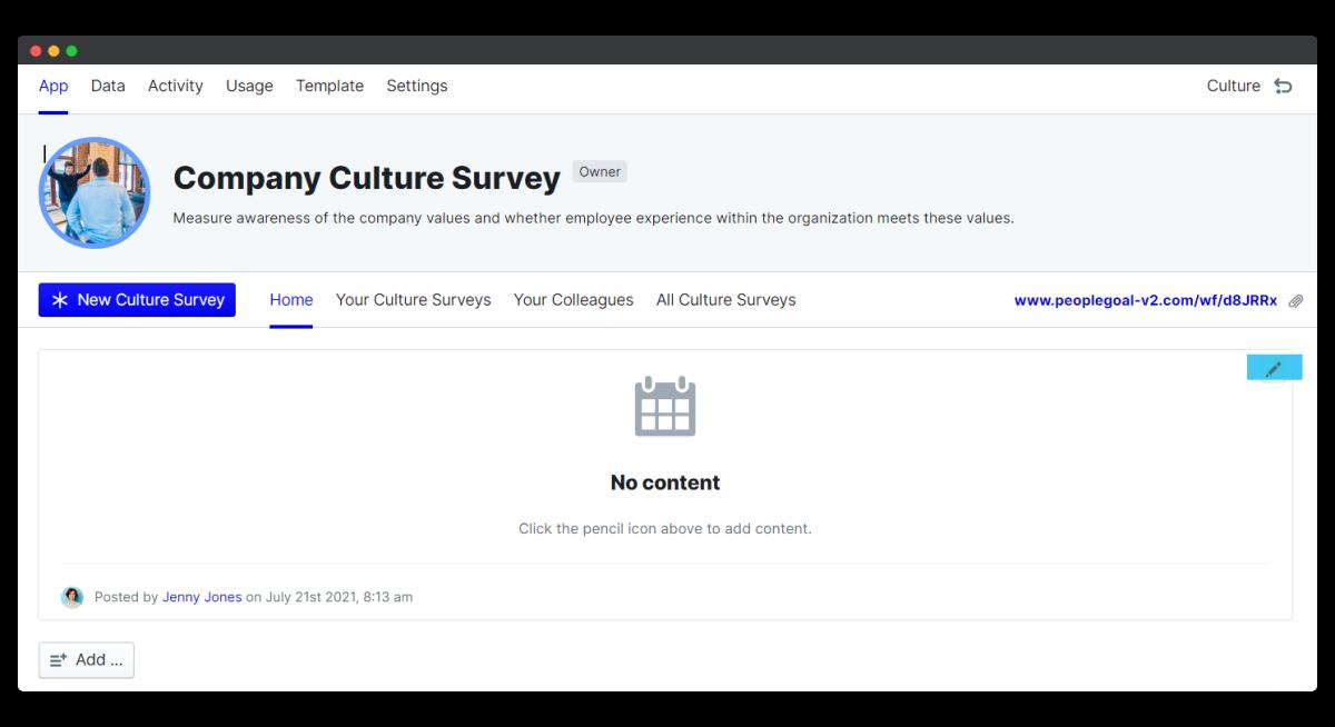 company culture survey - edit schedule