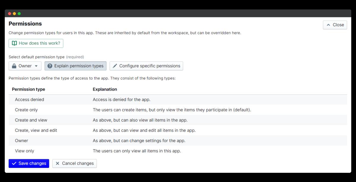 new joiner survey - explain permissions